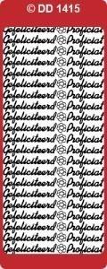 Doodey Stickervel DD1415 Gefelicitteerd / Proficiat