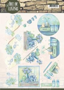 A4 Knipvel Jeanine CD11208 Art of Living Blue Art
