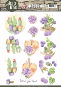 A4 Pushout Jeanine SB10311 Art of Living Purple Art