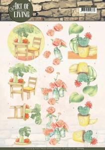 A4 Knipvel Jeanine CD11209 Art of Living Orange Art