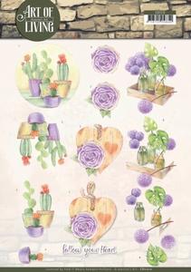 A4 Knipvel Jeanine CD11210 Art of Living Purple Art