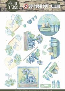A4 Pushout Jeanine SB10309 Art of Living Blue Art