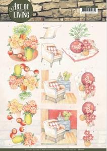 A4 Knipvel Jeanine CD11211 Art of Living Red Art