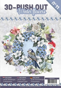 A4 Push Out Book 3D PO10011-NL Winter flowers