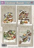 Creatief Art RE2530-0095 Christmas Animals 02 Vogels