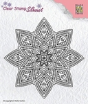 Nellie's Choice Silhouet clear stamp SIL040 Mandala-2