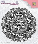 Nellie's Choice Silhouet clear stamp SIL041 Mandala-3