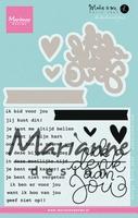 MD Clear Stamp Karin Joan KJ1727 Ik denk aan jou