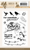Clearstamp Jeanine JACS10021 Birds and Flowers