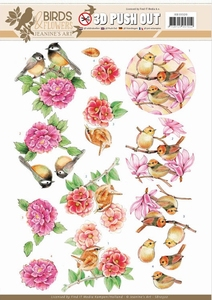 A4 Pushout Jeanine SB10320 Pink birds