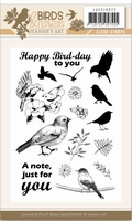 Clearstamp Jeanine JACS10022 Birds and Flowers