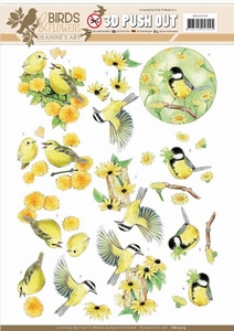 A4 Pushout Jeanine SB10319 Yellow birds