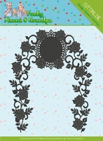 Yvonne's Die YCD10158 Funky Nanna's Floral Arch