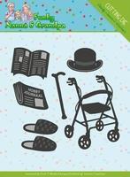 Yvonne's Die YCD10159 Funky Nanna's Grandpa Accessories