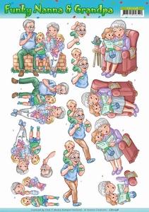 3D Knipvel Yvonne CD11238 Funky Nanna's With the Grandchilds