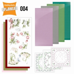 Sparkles SPDO004 Set 4 Happy Spring Flowers tulp