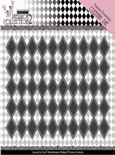 Dies Yvonne YCD10161 Pretty Pierrot 2 Diamond Pattern