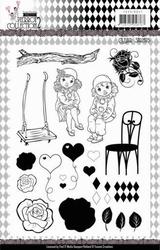 Clear Stamps Yvonne YCCS10047 Pretty Pierrot 2