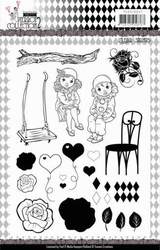 Clear Stamps Yvonne YCCS10047 Pretty Pierrot 2