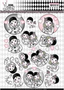 3D Knipvel Yvonne CD11256 Pretty Pierrot 2 Thinking of You