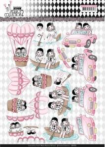 3D Knipvel Yvonne CD11255 Pretty Pierrot 2 Car Trip