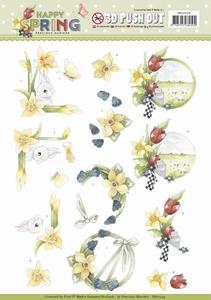 Marieke 3D Stansvel Happy Spring SB10329 Happy Daffodils