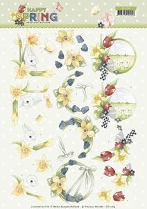 Marieke 3D Knipvel Happy Spring CD11264 Happy Daffodils