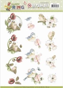 Marieke 3D Stansvel Happy Spring SB10327 Happy Birds