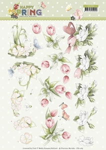 Marieke 3D Knipvel Happy Spring CD11265 Happy Spring