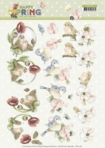 Marieke 3D Knipvel Happy Spring CD11262 Happy Birds