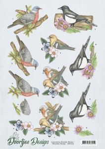 3D Knipvel Doortjes Design CD11246 Birds