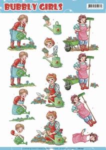 Yvonne Bubbly Girls 3D Knipvel CD11241 Gardening