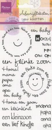 Marianne Design Rub-ons baby jongen
