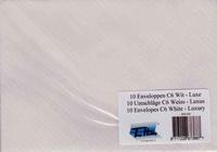 C6 Enveloppen ENV-308 Wit met luxe golf   Met gegomde klep