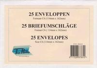 C6 Enveloppen ENV-004 Zeer licht ivoor Leder