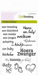 CraftEmotions A6 clearstamps 1149 Geboorte/baby