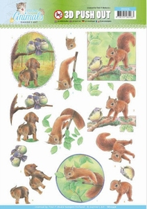 A4 Pushout Jeanine SB10336 Young Animals In the Forest