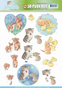 A4 Pushout Jeanine SB10337 Young Animals Kittens