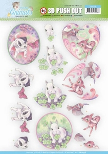 A4 Pushout Jeanine SB10338 Young Animals Cuties in Purple
