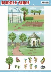 Yvonne Bubbly Girls A4 Achtergrondvel CD11286 Gardening