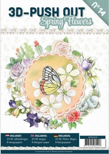 A4 Push Out Book 3D PO10014-NL Spring Flowers