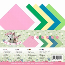 Amy Design Linnenkarton AD-A5-10018 Spring is Here
