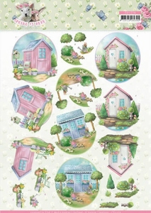 3D Knipvel Amy Design CD11279 Spring is Here Garden Sheds