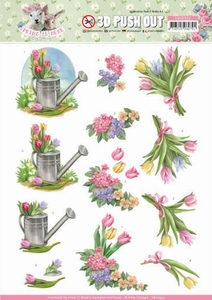 3D Stansvel Amy Design SB10332 Spring is Here Tulips