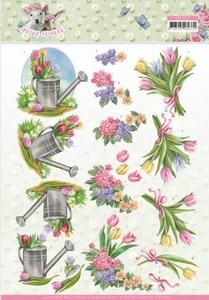 3D Knipvel Amy Design CD11277 Spring is Here Tulips