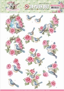 3D Stansvel Amy Design SB10333 Spring is Here Birds and Rose