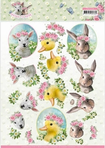 3D Knipvel Amy Design CD11276 Spring is Here Baby Animals