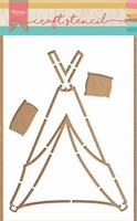 MD Craft stencils PS8021 Tipi door Marleen