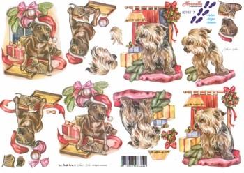 A4 Kerstknipvel Le Suh 8215117 Hondjes