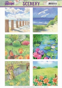 Die Cut Topper Scenery Jeanine's Art CDS10008 Landscapes